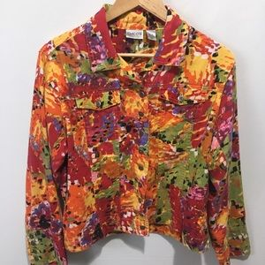Chico button front swing jacket. Size medium